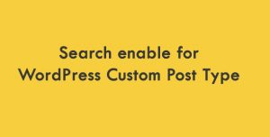 wordpress-custom-post-type-search-enable